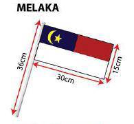 D - Hand Hold Flag with Stick (Melaka)