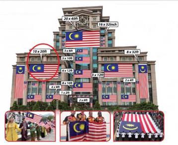D - Bendera Malaysia 10x20ft