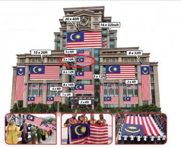 D - Bendera Malaysia 5x10ft