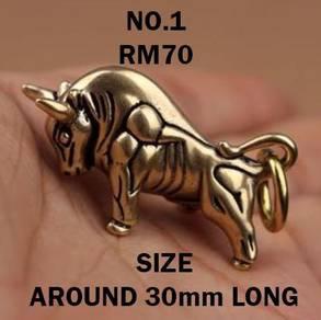 Copper Zodiac Ox Keychain | Keychain Tembaga