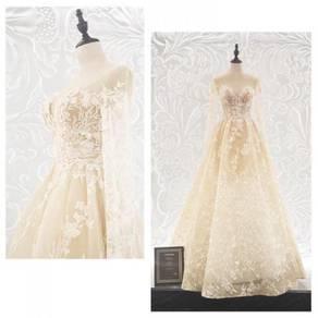 Long Sleeve Wedding Dress Gown RB0762
