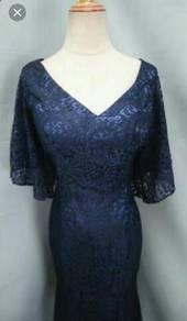 NEW navy blue mermaid evening gown dinner dress