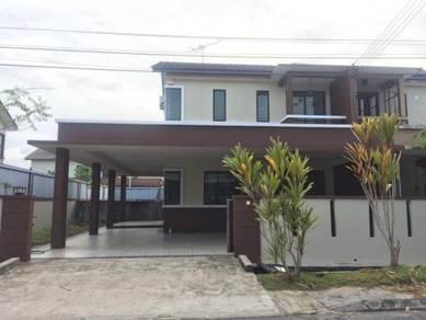 Partially Furnish Double storey semi detached at Desa Moyan, Kuching
