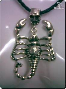 Cool Rocker Scorpion Necklace Silver Metal 88x57mm