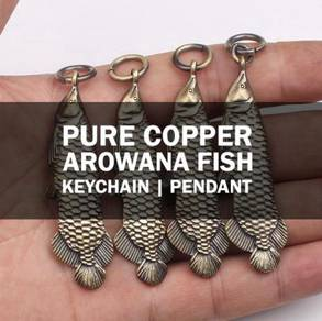 Copper Keychain Arowana Pendant | Keychain Tembaga