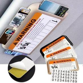 Sun visor card holder / 4 slots A07