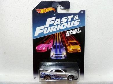 Hotwheels Fast & Furious Nissan Skyline GT-R R34