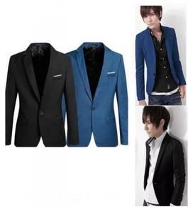 Korean Style Casual Slim Fit Men Blazer Coat Jacke