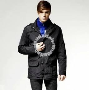 J0767 Multi-Pocket Black Rain Coat Fishing Jacket