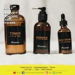 Product Skincare Label Sticker