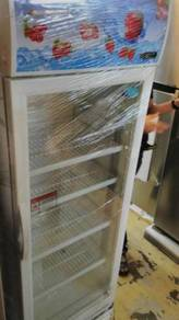 Glass door snow fridge 340L brand Malaysia