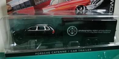 Porsche Cayenne + Car Trailer