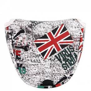 Golf UK Flag Mallet Putter Headcover - Magnetic