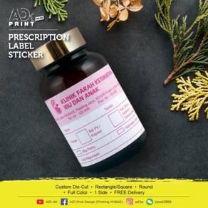 Presctiption Label Sticker