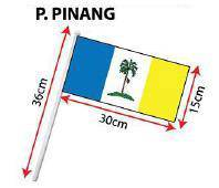 D - Hand Hold Flag with Stick (P.Pinang)