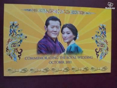 Bhutan Royal Wedding Commemorative Note 2011