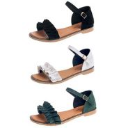 7996 New Lotus Leaf Retro Flat Sandals