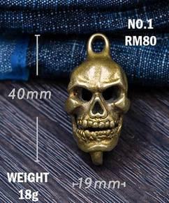 Pure Copper Skull Keychain I | Keychain Tembaga