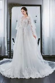 White long sleeve Wedding Dress Gown RB0764