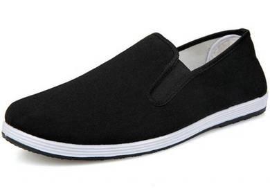 JA0268 Black Canvas Slip On Sneakers Kasut Shoes