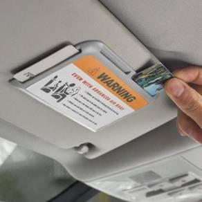 Sun visor card holder A08
