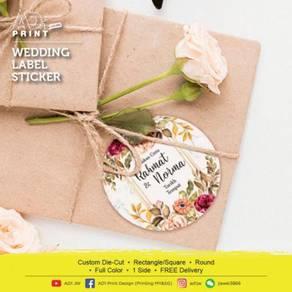 Wedding Label Sticker