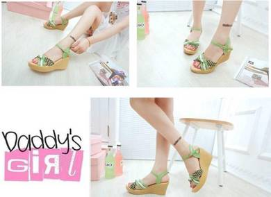 Adult Korean Style Candy-Colored Wedges Shoes