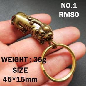 Keychain Pure Copper Lucky | Keychain Tembaga