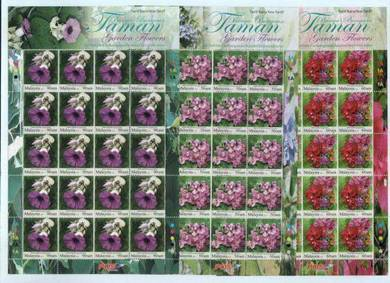 Mint Stamp Sheet 50c 60c 90c Garden Flowers 2010