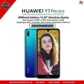 Huawei Y7 pro 2019 new + freegift rm1000
