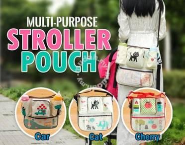 Multipurpose stroller pouch