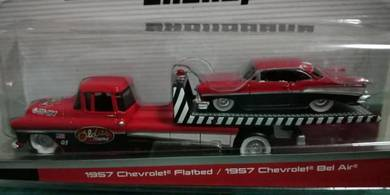 1957 Chevrolet Flatbed + Chevrolet Bel Air