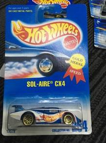 Hotwheels Sol-Aire CX4 - Blue Gold Metal Speed
