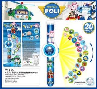 3D Digital Projection Watch - ROBOCAR POLI