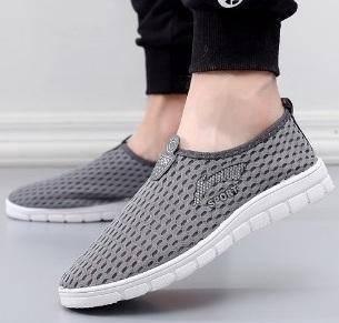 J0265 Breathable Men Slip Ons Kasut Water Shoes