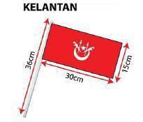 D - Hand Hold Flag with Stick (Kelantan)