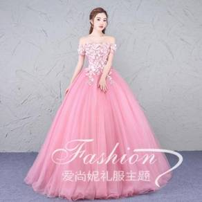 Pink wedding bridal prom dress RB0345