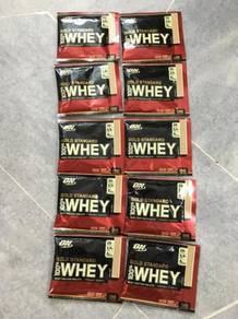 On 100% whey protein 10 serving