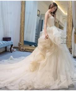 White fishtail Wedding Dress Gown RB0767