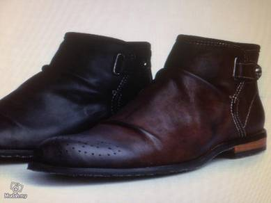 Genuine leather martin boots shoes male England