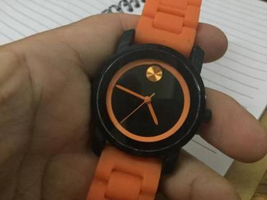 Orange gent watch