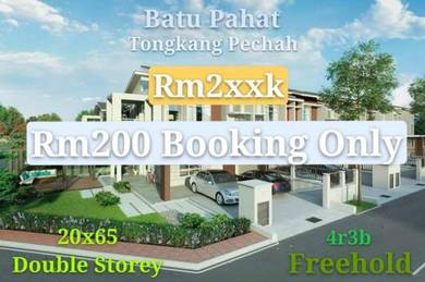 (New) Batu Pahat Tongkang Pechah New Double Storey 20x65