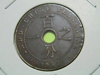 French Indo-China 1 Cent 1937 (Kod : A1466)