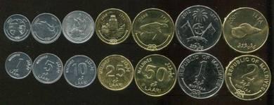 MALDIVES COINS 2007-2012 7 pcs unc