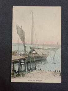 Postcard Native Boat 1910s PC 2730