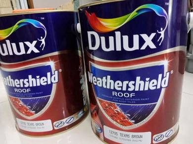 Dulux paint for roof Brown color