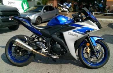 Yamaha R25 Blue silver ori with ARROW exhaust 250r