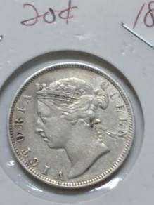 Vintage SS Queen Victoria 20 Cent Coin 1891