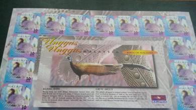 Stamp Sheet Unggas-Unggas Malaysia 2000