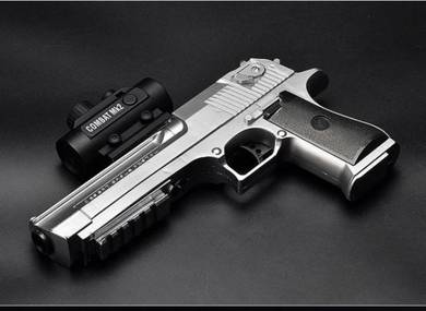 Automatic Desert Eagle Gel Bullet Gun (SILVER)